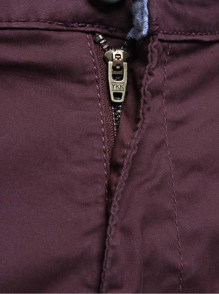 Vínové chino nohavice !Solid Joy Crisp