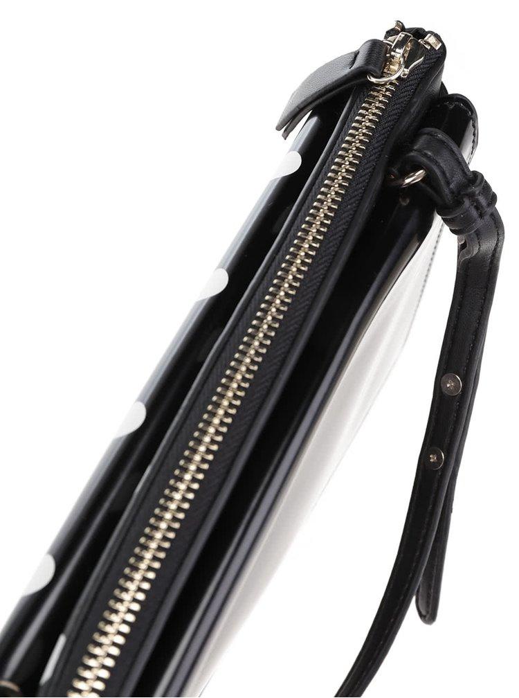 Geantă Frech Connection neagră cu buline