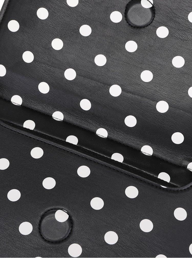 Černá crossbody kabelka/psaníčko s puntíky French Connection