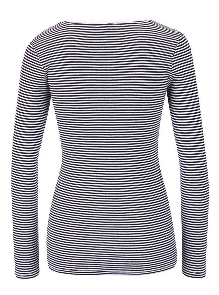 Černo-bílé pruhované tričko s dlouhým rukávem TALLY WEiJL