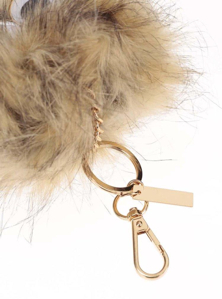 Hnedá kľúčenka v tvare gule s očami ALDO Nydigong