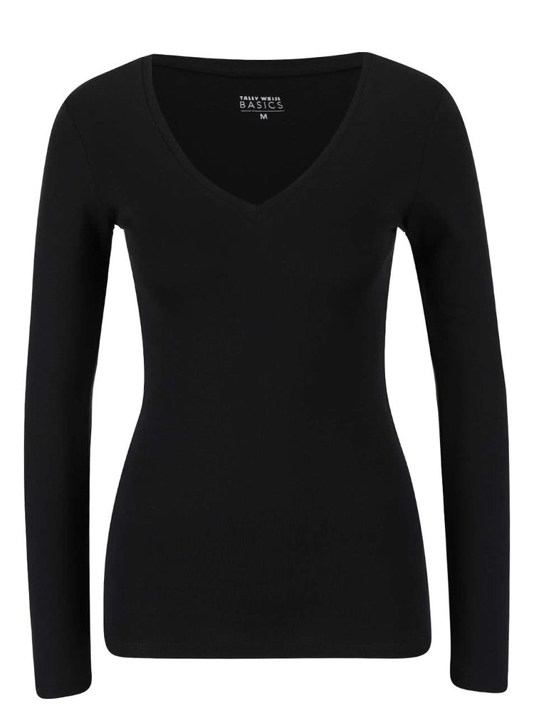 Čierne tričko s dlhým rukávom TALLY WEiJL