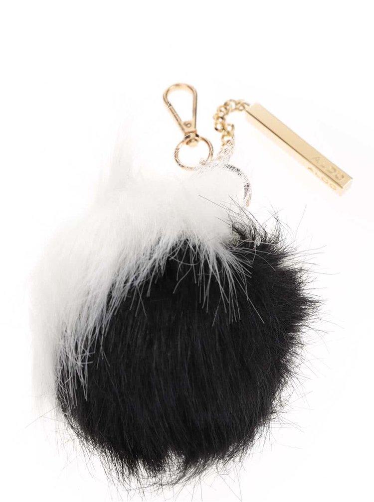 Bílo-černá klíčenka ve tvaru koule ALDO Blosch