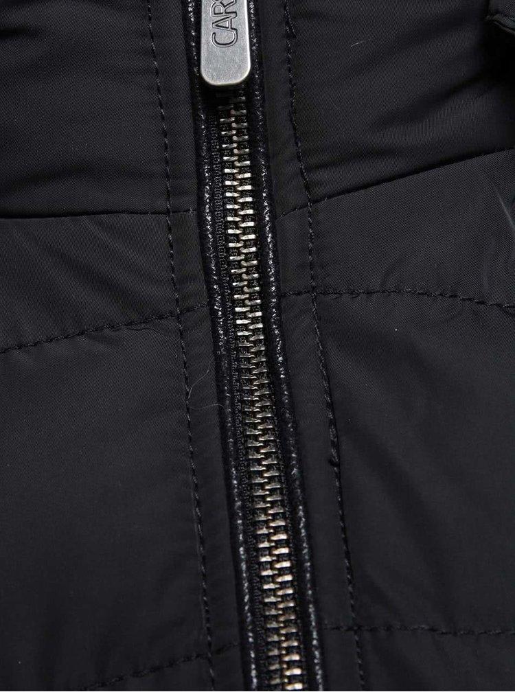 Černá dámská prošívaná bunda s páskem Cars Myran