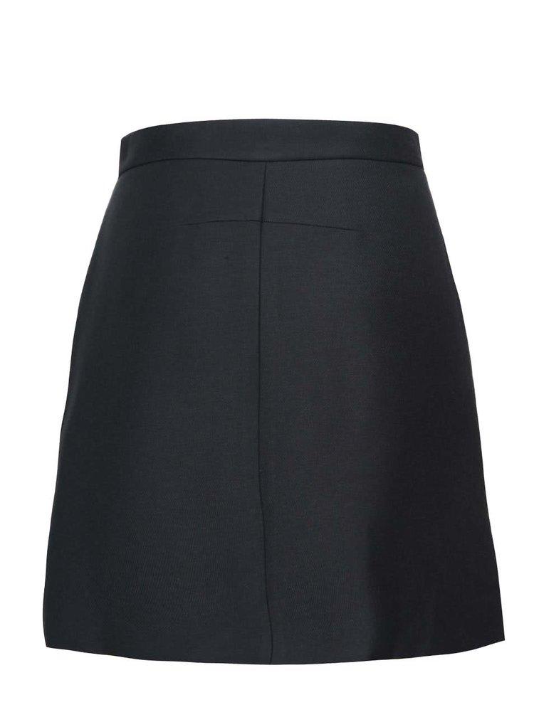 Tmavě modrá sukně s knoflíky French Connection Flight