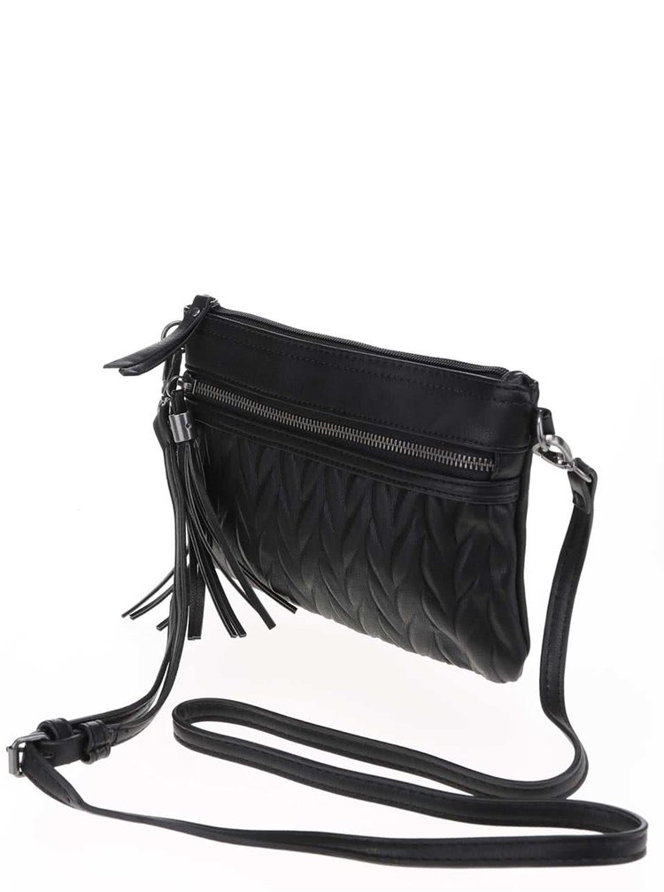 Geanta neagra crossbody Pieces Peyton