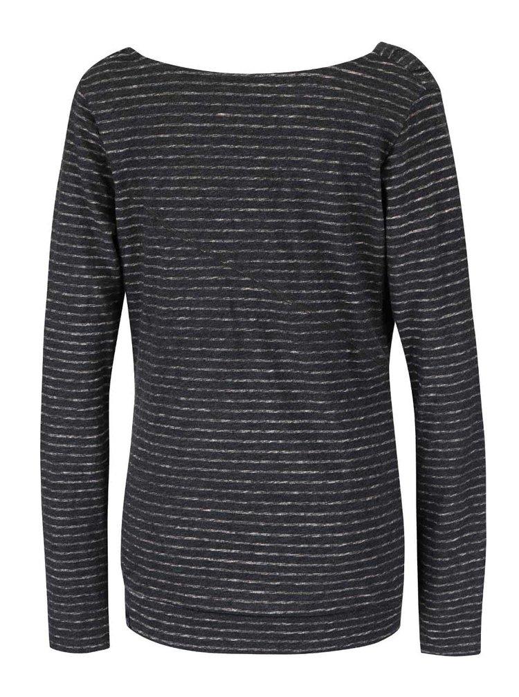 Šedé dámské žíhané volnější pruhované tričko Ragwear Yolanda