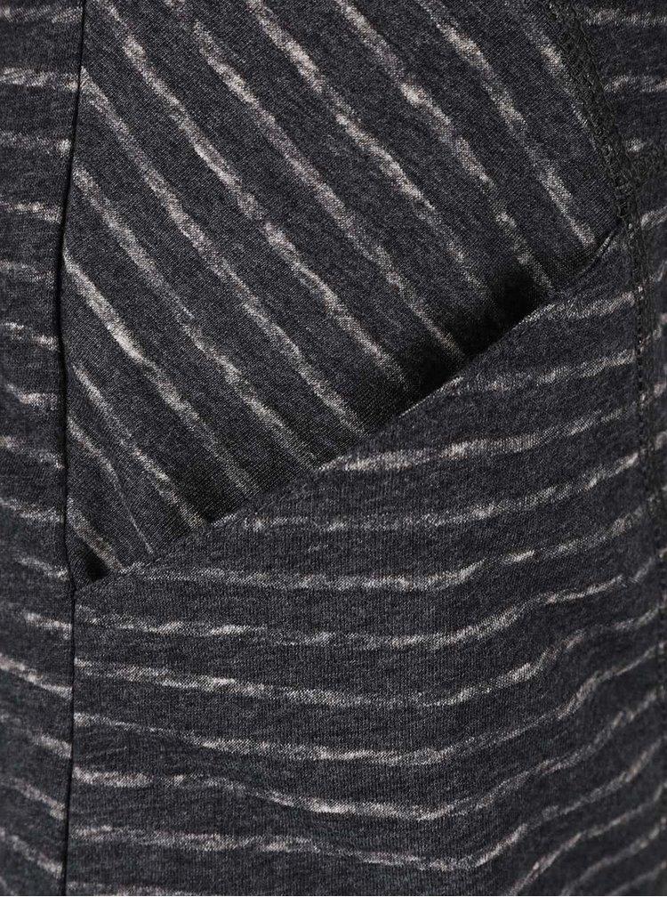 Bluza gri inchis Ragwear Yolanda cu dungi