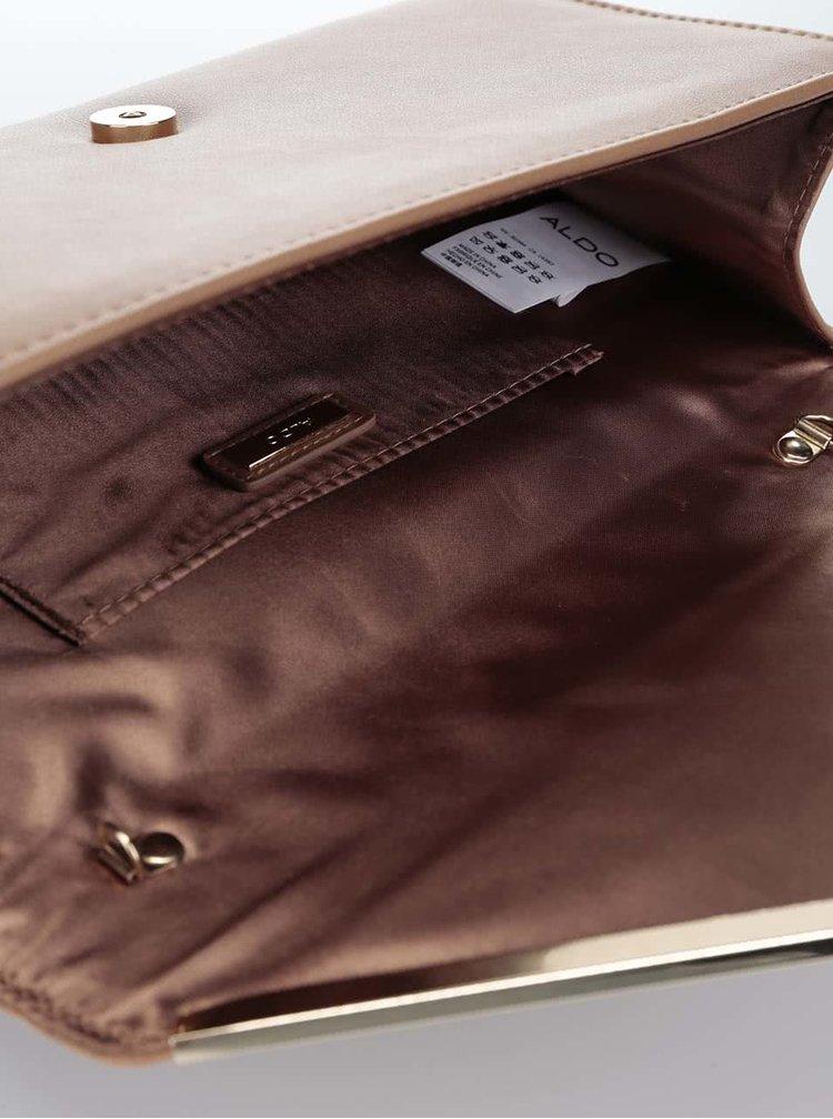 Svetlohnedá listová kabelka s klopou v semišovej úprave ALDO Varina