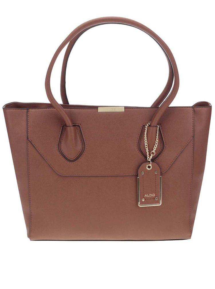 Hnedá kabelka s príveskom ALDO Parker