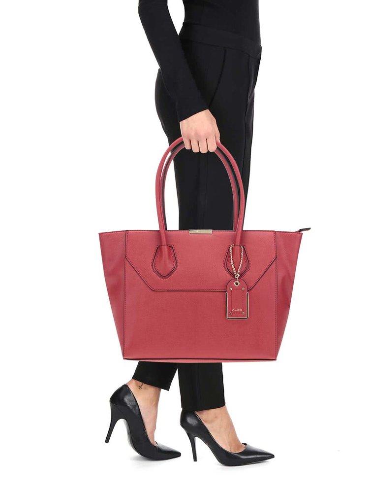 Červená kabelka s přívěškem ALDO Parker