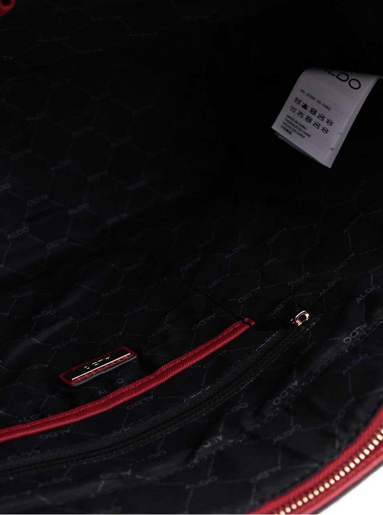 Červená kabelka s príveskom ALDO Parker