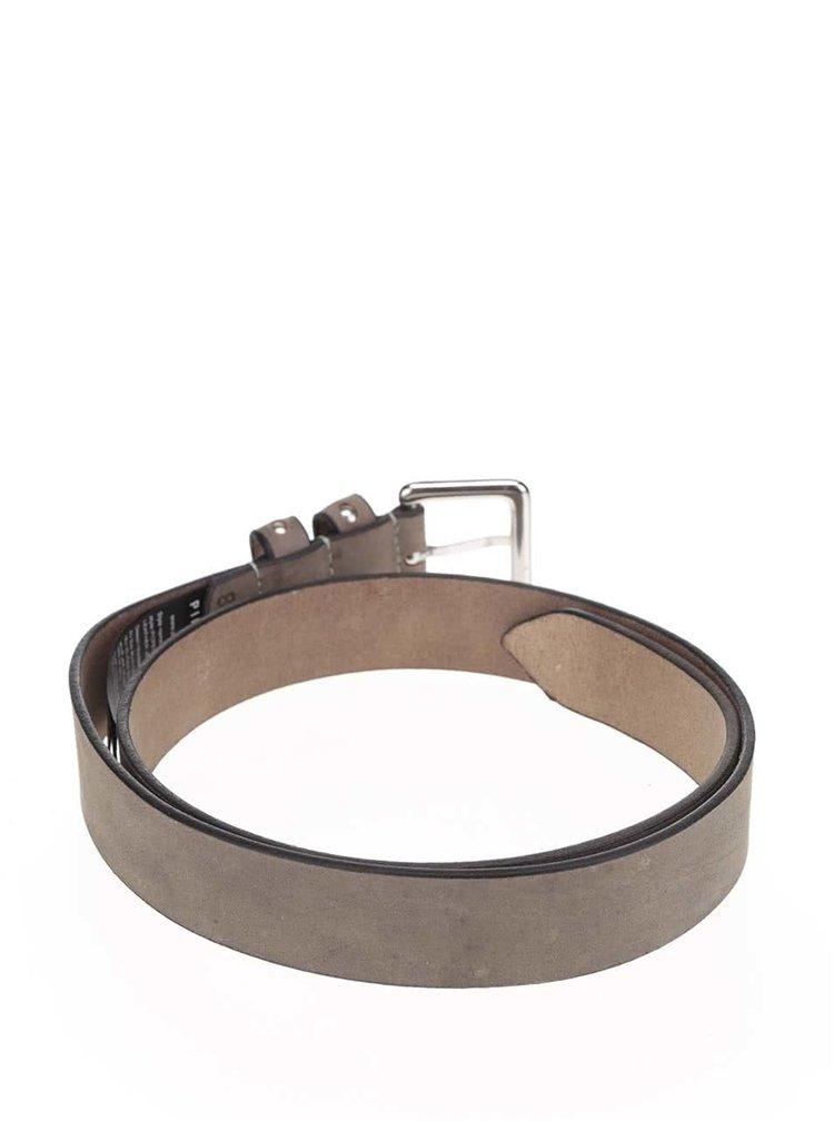 Šedý kožený pásek Pieces Pesta