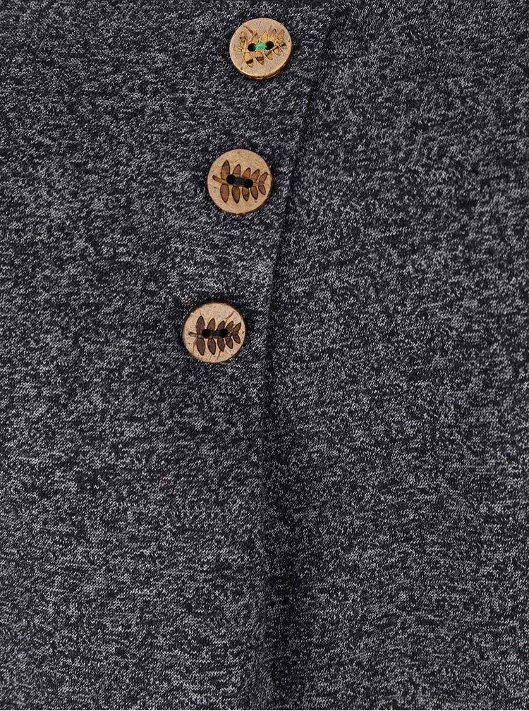 Bluză gri melanj Ragwear Mayra Organic cu nasturi