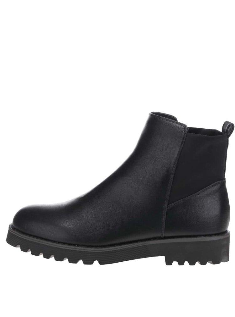 Černé kotníkové boty Pieces Dano