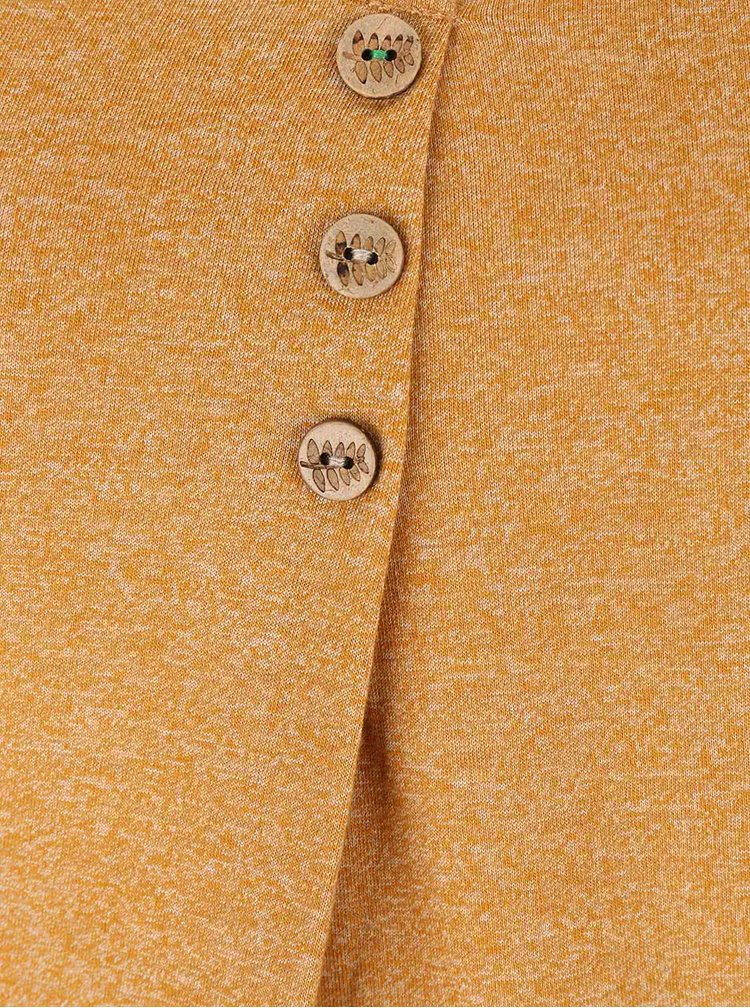 Bluza galben melanj Ragwear Mayra Organic cu nasturi