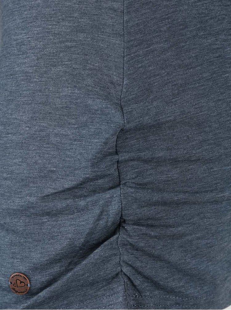 Bluză gri petrol Ragwear Zimt cu decolteu răsucit