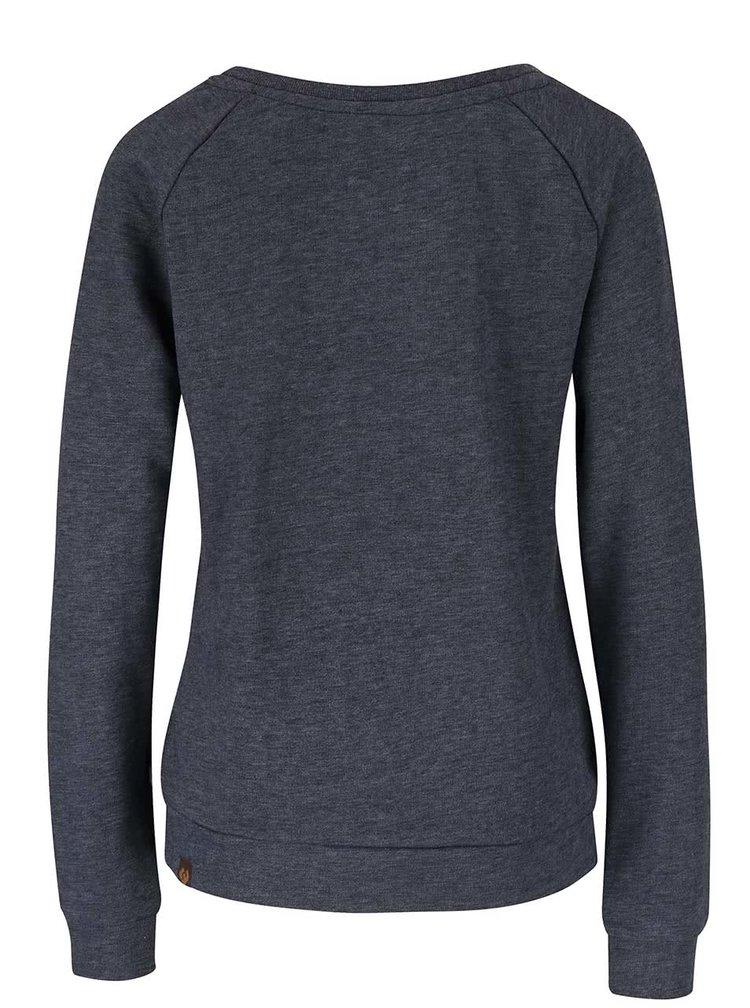 Bluza bleumarin Ragwear Kind cu print vulpe