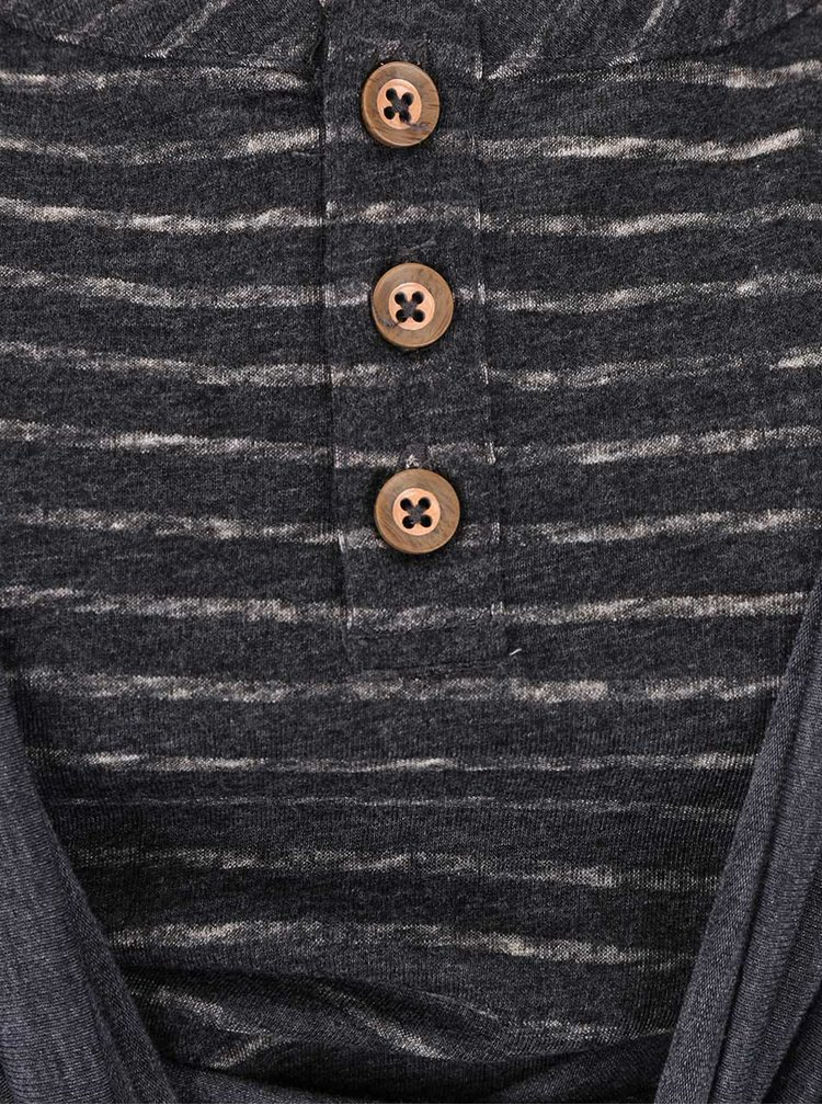 Bluză gri închis Ragwear Zimt cu decolteu răsucit