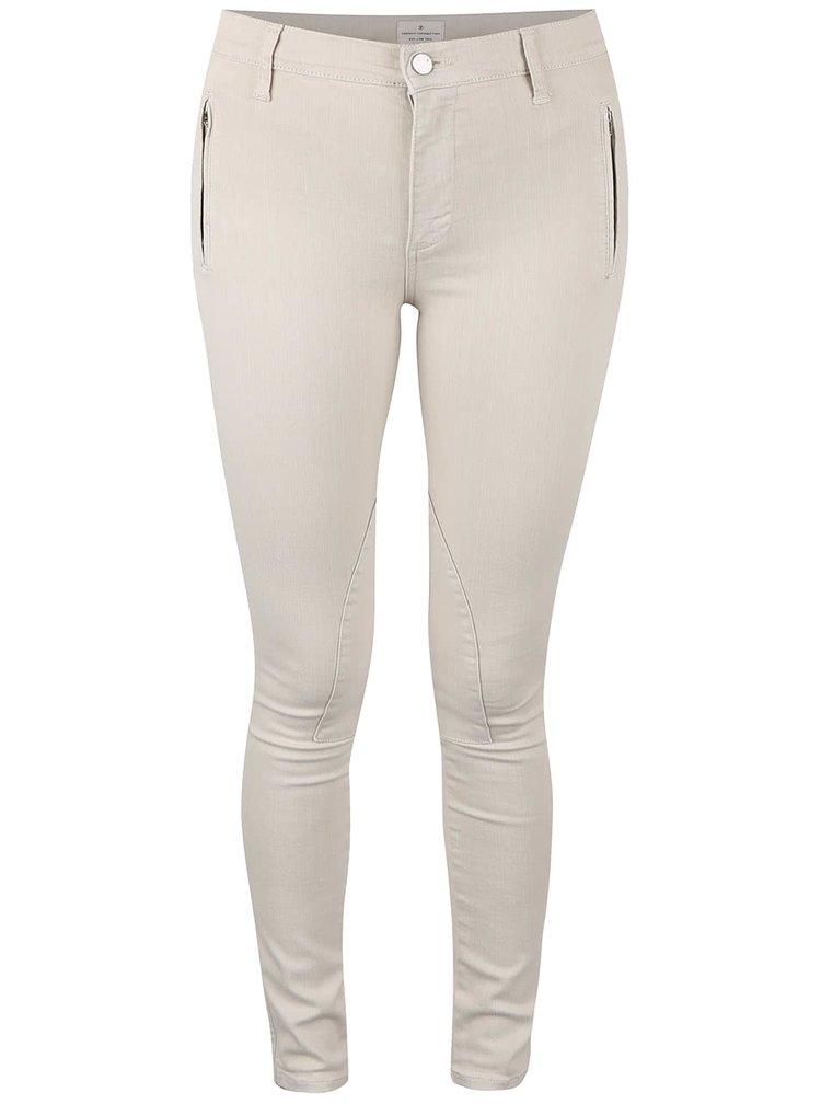 Pantaloni skinny French Connection Rebound bej