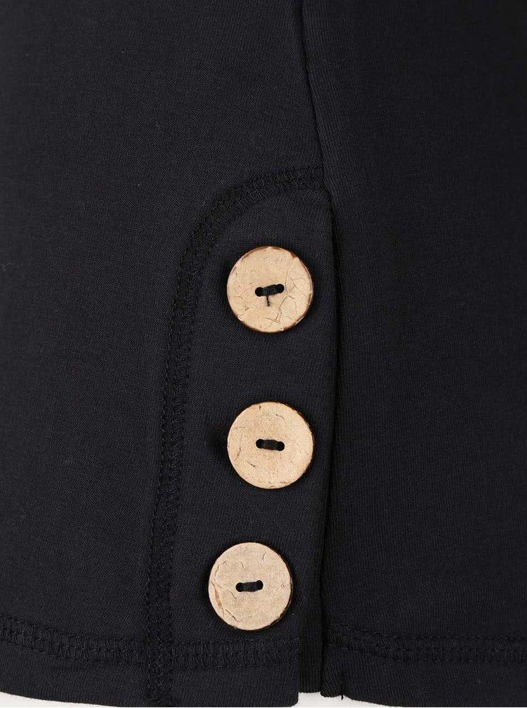 Bluză neagră Ragwear Willow cu guler înalt