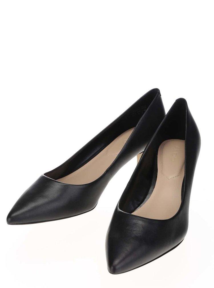 Pantofi negri din piele ALDO Sieria cu toc mic