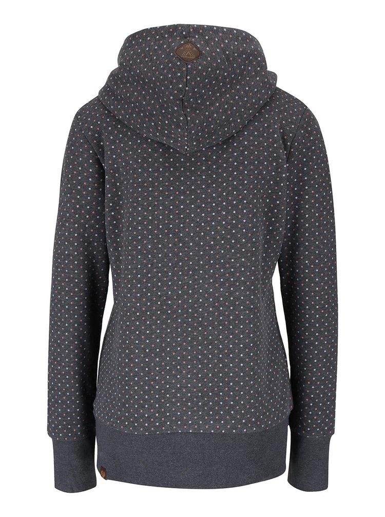 Hanorac gri inchis Ragwear Chelsea Dots cu buline