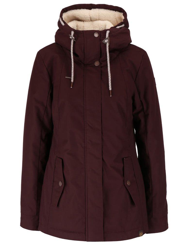 Vínová dámska bunda s kapucňou Ragwear Monade