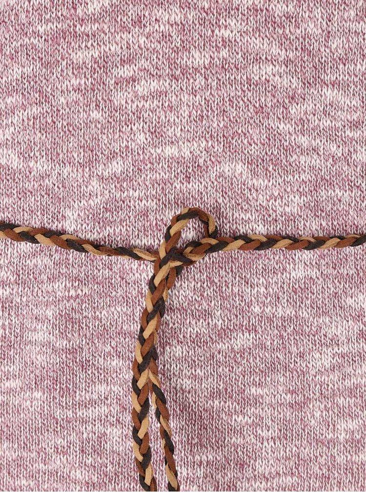 Pulover roz melanj Ragwear Port cu curea impletita