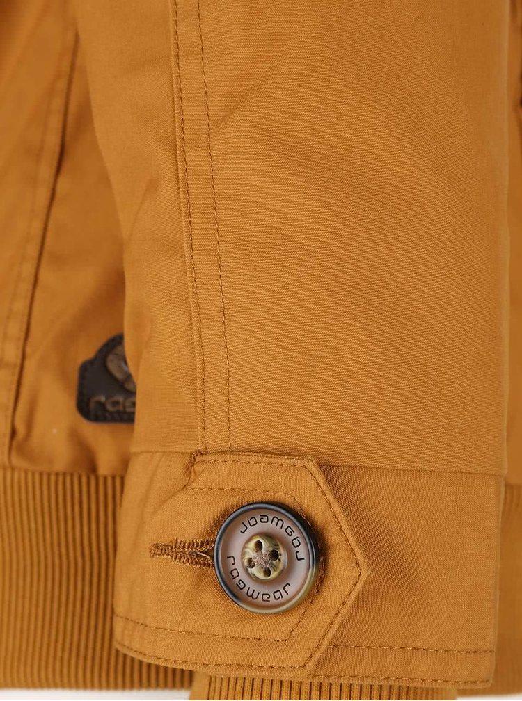 Hořčivová dámská bunda s kapucí Ragwear Ewok