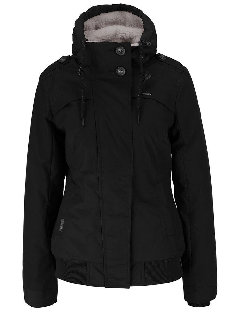 Černá dámská bunda s kapucí Ragwear Ewok