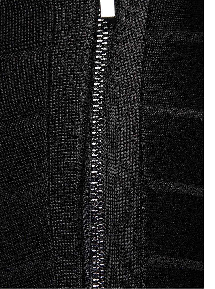 Čierne šaty s lodičkovým výstrihom French Connection Spotlight