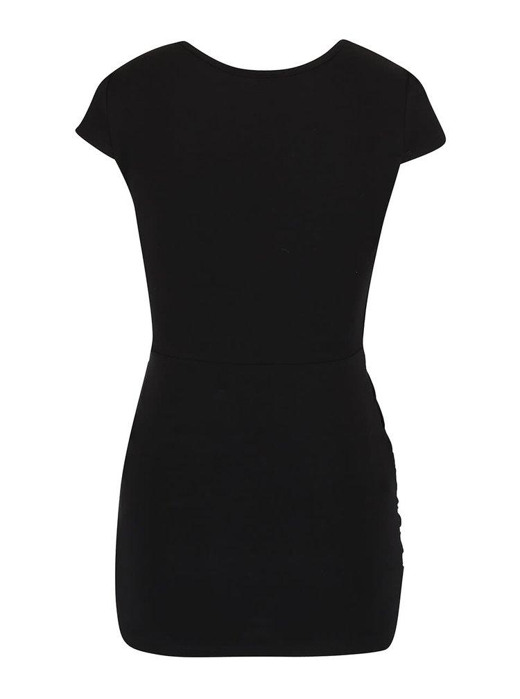 Čierne tehotenské tričko s véčkovým výstrihom Dorothy Perkins Maternity