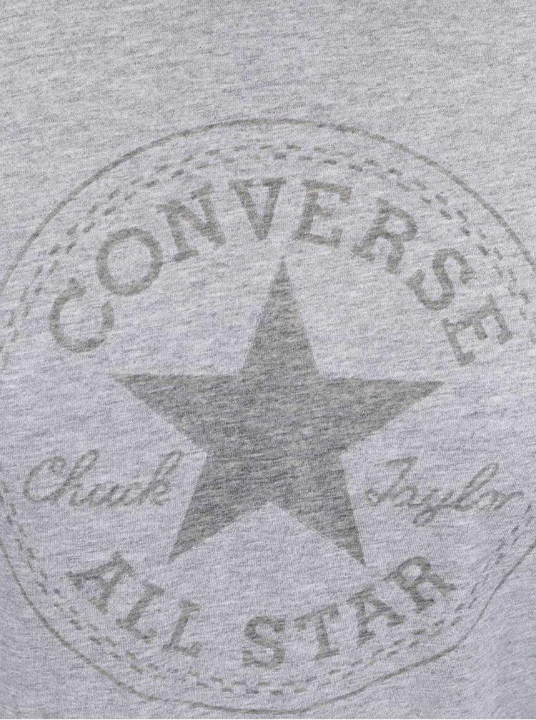 Sivé dámske tričko s logom Converse