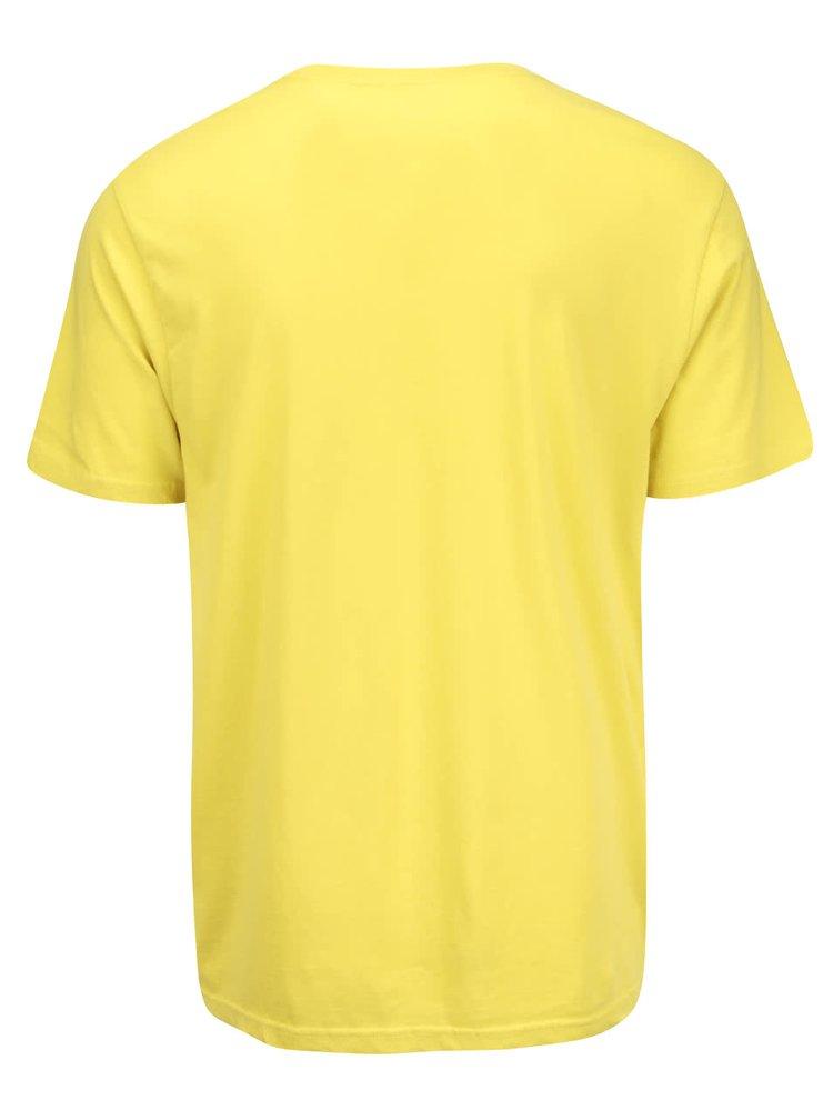 Žlté pánske tričko s logom Converse Core