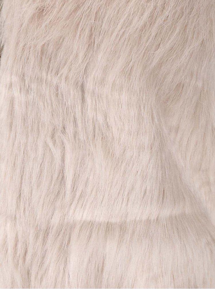 Sivobéžová vesta s umelou kožušinou Haily's Tyra