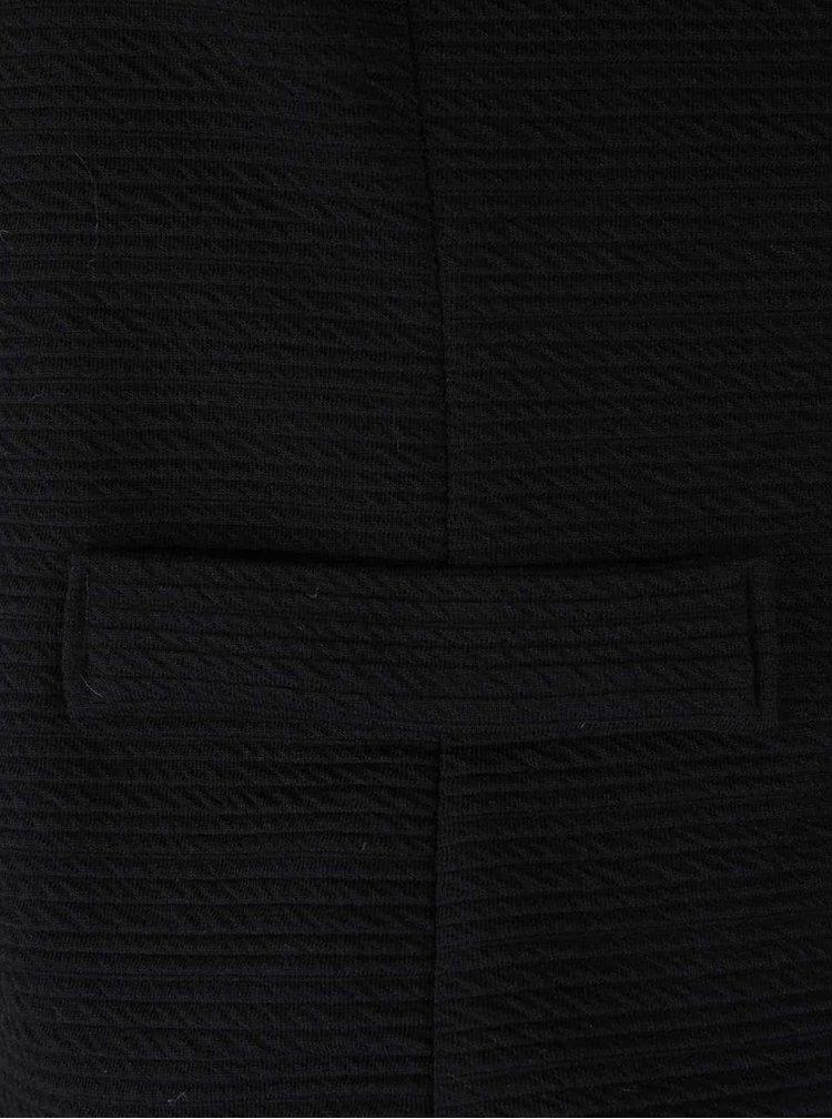 Blazer negru Haily´s Sara cu fermoar