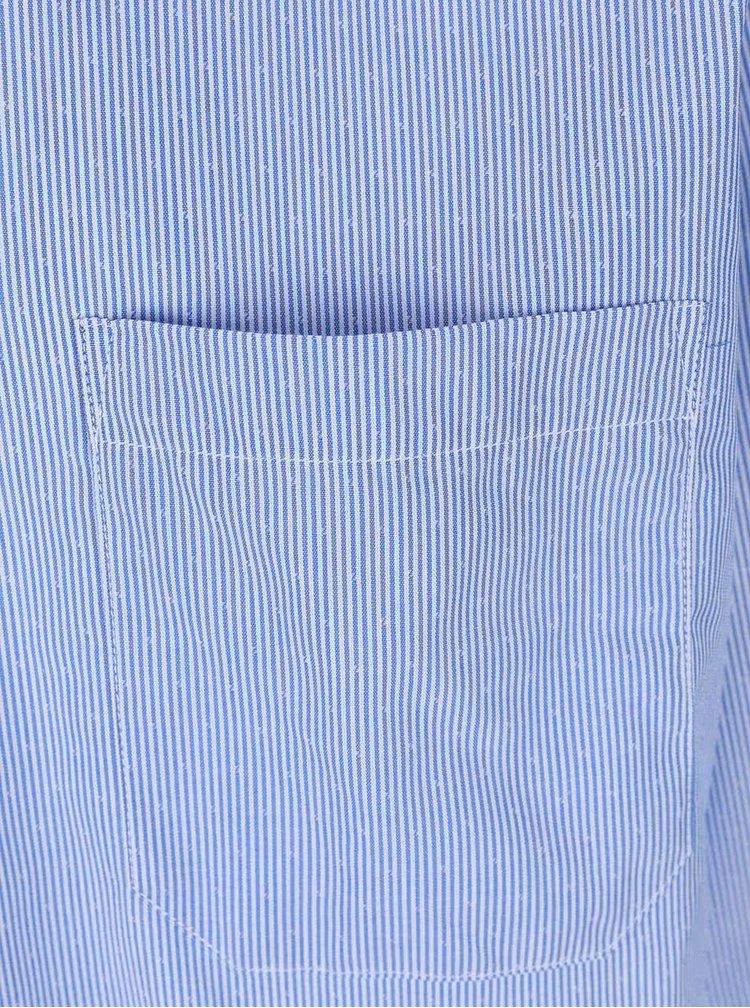 Svetlomodrá pruhovaná pánska košeľa s detailmi Seven Seas