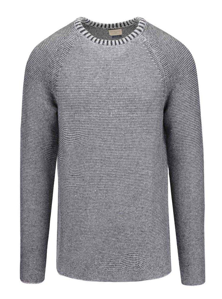 Svetlosivý melírovaný sveter Selected Homme Mel