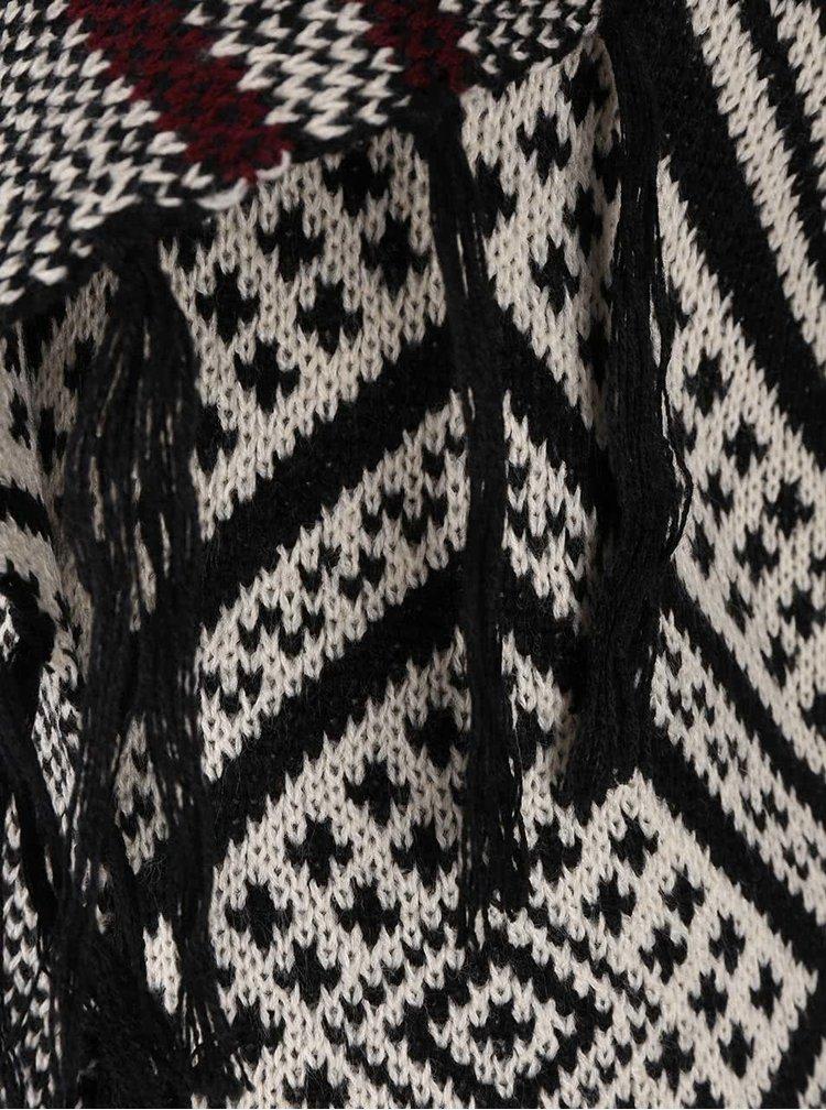 Černo-krémový kardigan Haily´s Dana
