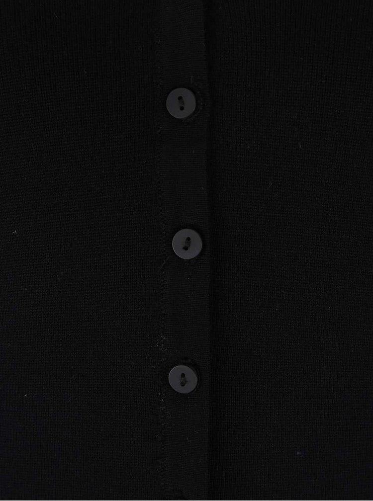 Cardigan negru Haily´s Chloe cu nasturi