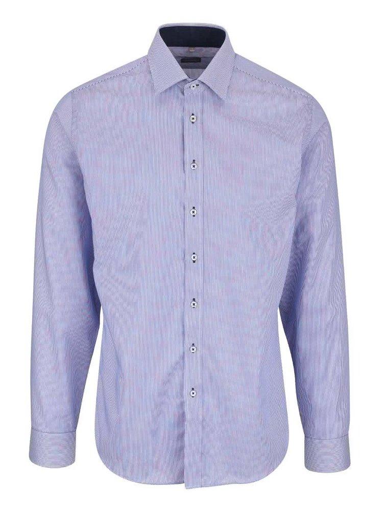 Světle modrá pruhovaná pánská košile Seven Seas