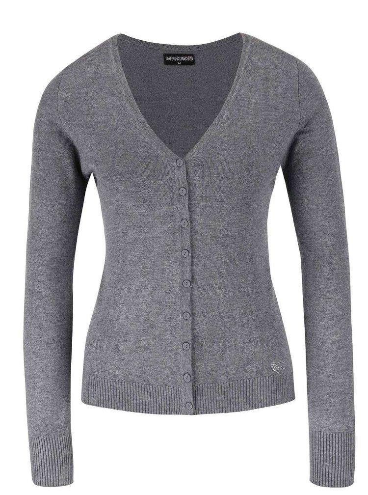 Šedý propínací svetr Haily´s Chloe