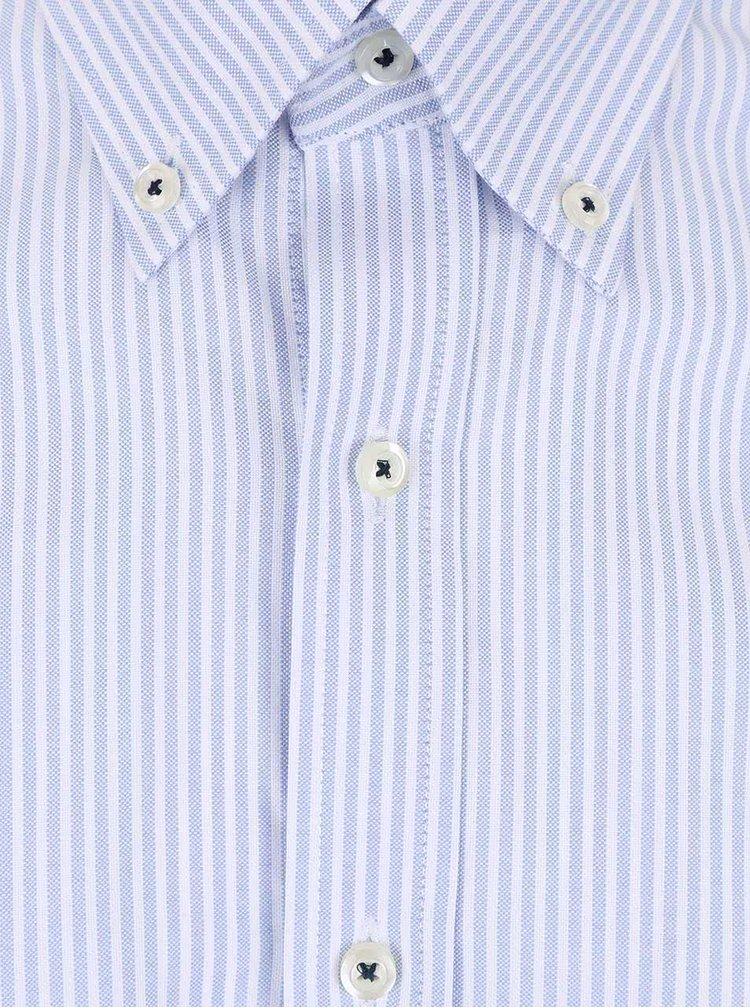 Bielo-modrá pruhovaná pánska košeľa Seven Seas