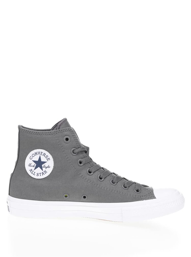 Zelenosivé unisex členkové tenisky s bielym logom Converse Chuck Taylor All Star