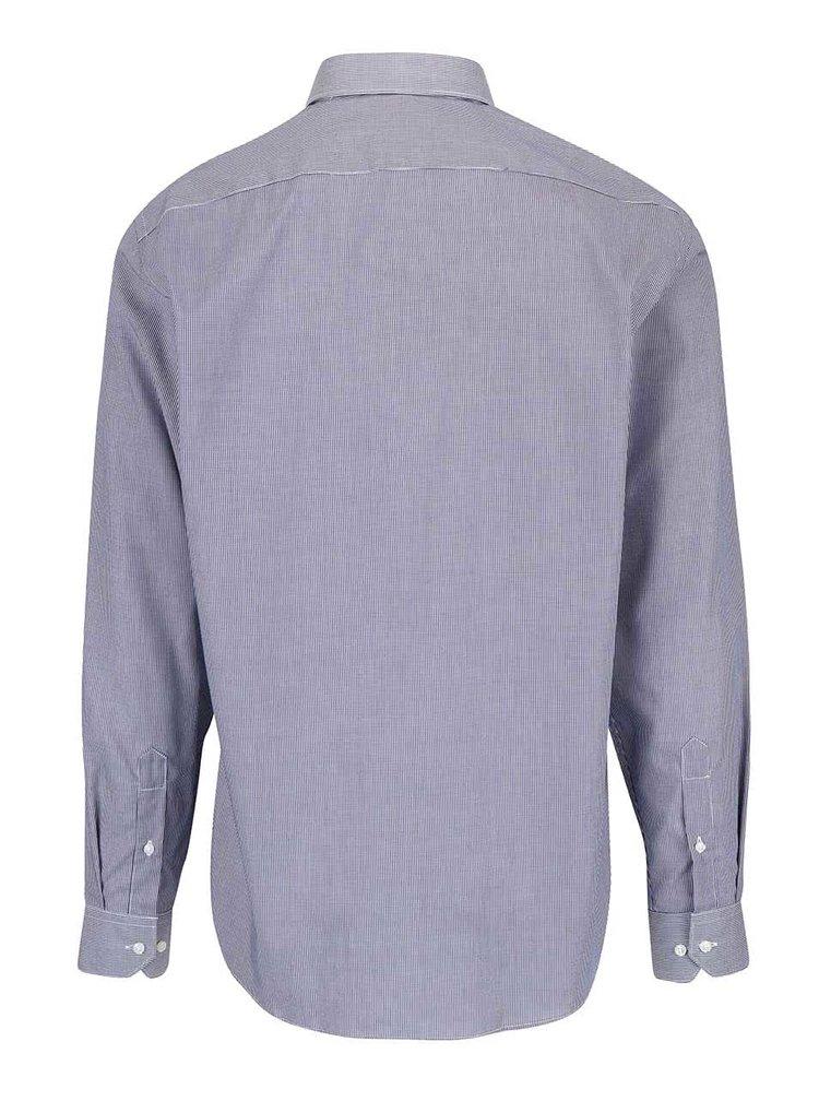 Tmavě modrá vzorovaná pánská košile Seven Seas
