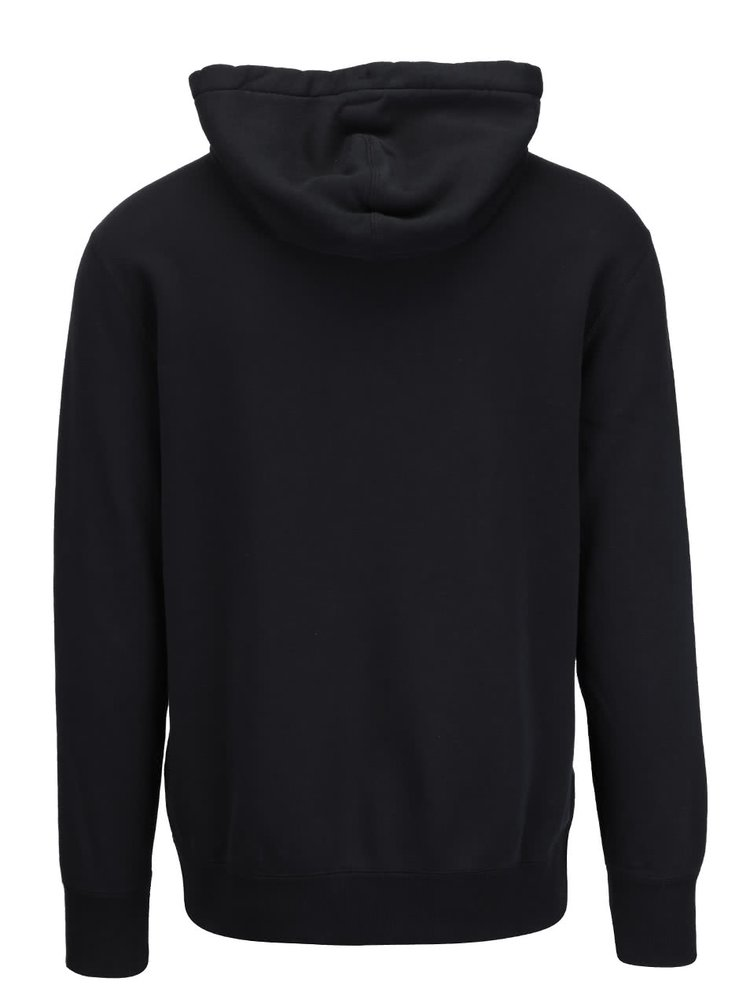 Čierna pánska mikina na zips s kapucňou Converse