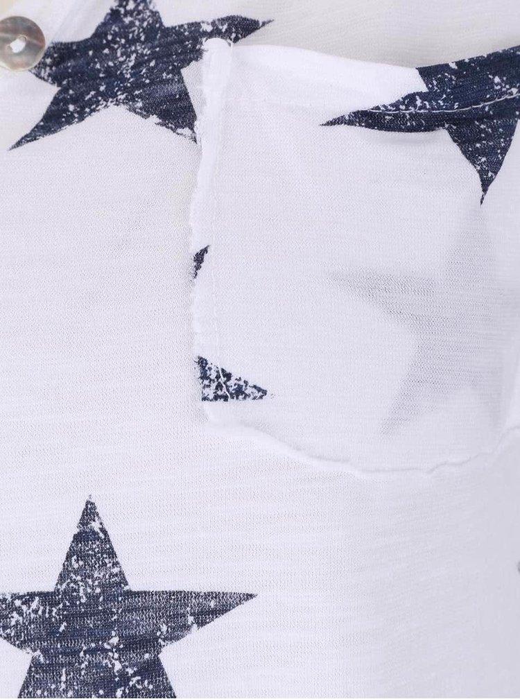Biele tričko s hviezdami Haily´s Stella