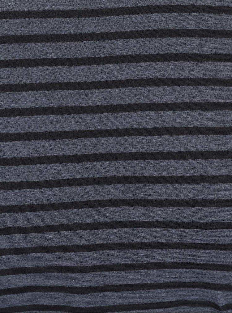 Tricou albastru Selected Homme Monte cu model in dungi