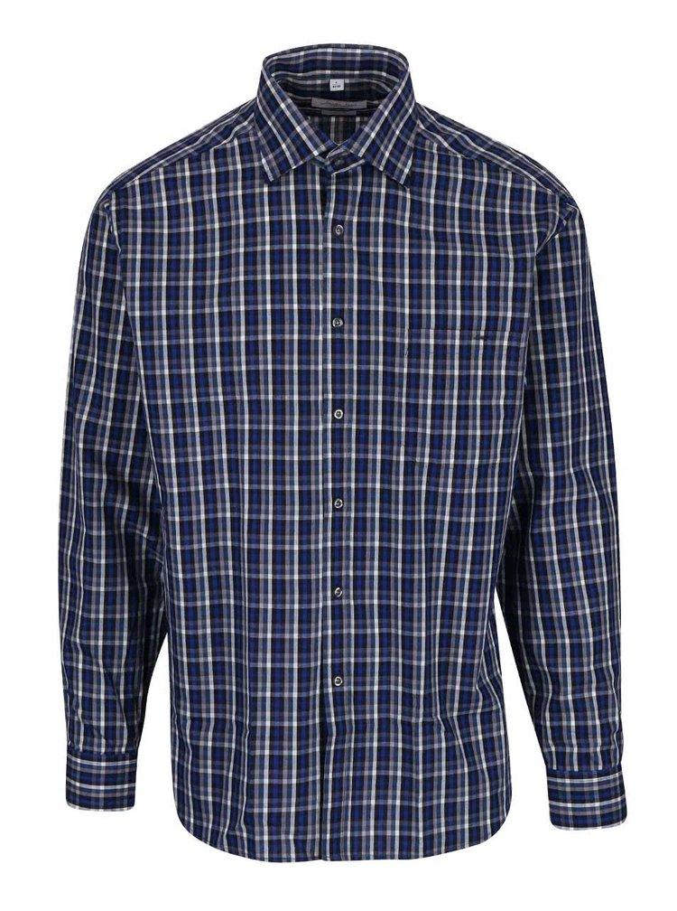 Modrá kockovaná pánska košeľa Seven Seas